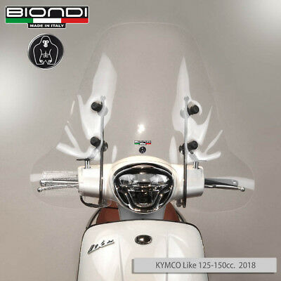 Parabrezza Paravento Windshield Screen Biondi Kymco Like 50 125 150 200 Dal 2018