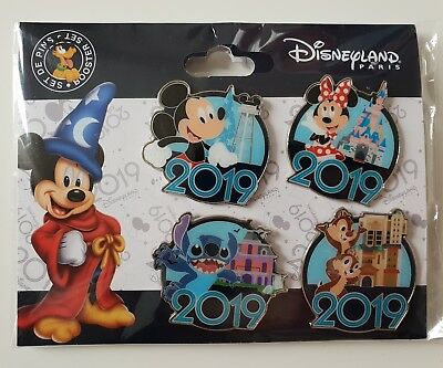 BOOSTER SET Pins Disneyland Paris MICKEY MINNIE STITCH TIC ET TAC 2019 Pin's