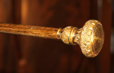 Antique Intricate Designed Rolled Gold Handle/knob:walking/hiking Stick/cane