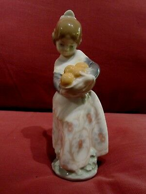 Beautiful Lladro Figurine Entitled Girl From Valencia 4841 Pretty Young Girl