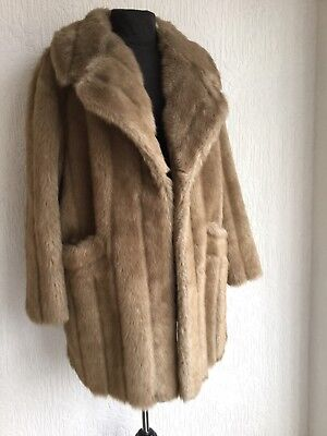 Immaculate Vintage Faux Fur Tan Cosy Furry Teddy Long Coat M 12/14 Shop Top 80s