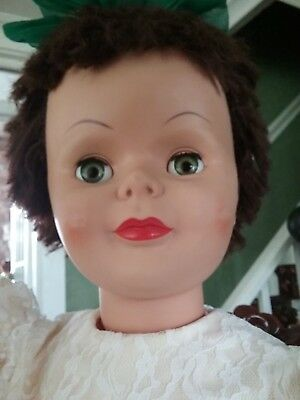 """PATTI PLAY PAL TYPE DOLL VINTAGE 36"""" Walker* Uneeda* Dress & Panty Included"""