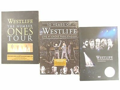 Westlife. 3 Dvd Collection. Number Ones Tour -Live At Croke Park -Greatest Hits