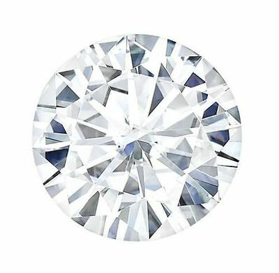 Moissanite Loose Stone G-H-I Color Round Cut Charles and Colvard Forever One