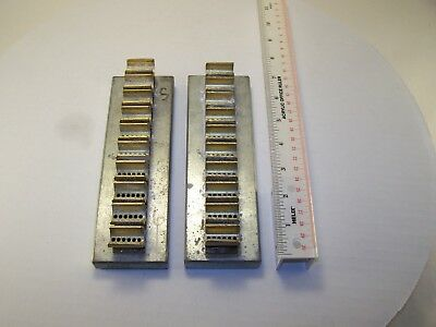 Locksmith plug holders, pin up 10 cylinders, 2 in this lot (lot #2)