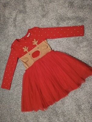 1abb301d1 GIRLS NEXT CHRISTMAS Rudolph Jumper With Flashing Nose Age 11 ...