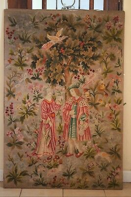 Large French Medieval Themed hand made tapestry 'Seign Euriale' unframed