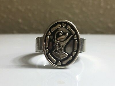 Silver Ancient Egyptian King Akhenaten Adjustable Ring Unisex Made in Egypt