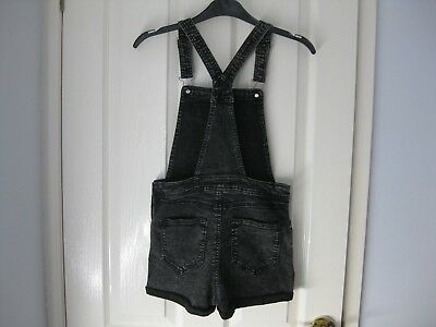 Girls Denim Dungarees / Shorts Age 10 H&m In Excellent Condition
