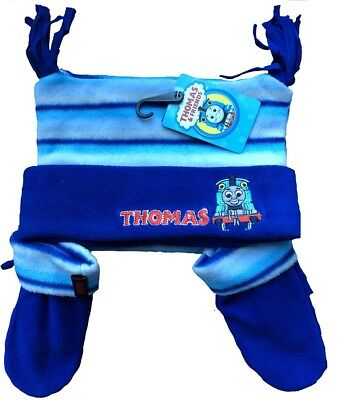 Thomas The Tank Engine Fleece Hat and Mittens for 12-23 Months
