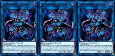 The Phantom Knights of Rusty Bardiche LEHD-ENC00 X 3 Ultra Rare Mint YUGIOH