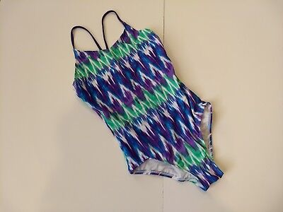 Girls Size 12 Kanu Surf Swimsuit One Piece Color Purple Style Kelly
