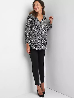 Gap NWT NEW Maternity full panel ponte leggings black pants $59 Medium