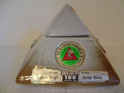 Jim Beam 1975 Regal China El Kahir Temple Pyramid Decanter Empty