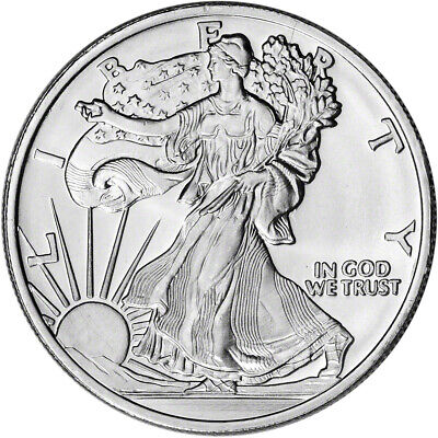 1 oz. Highland Mint Silver Round - Walking Liberty Design .999 Fine