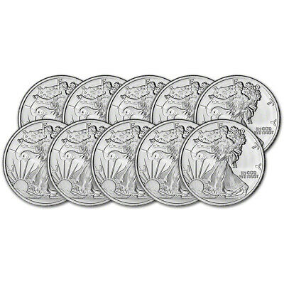 TEN (10) 1 oz. Highland Mint Silver Round Walking Liberty Design .999 Fine
