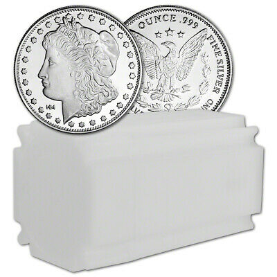 TWENTY (20) 1 oz Highland Mint Silver Round Morgan Dollar .999 Roll Tube of 20