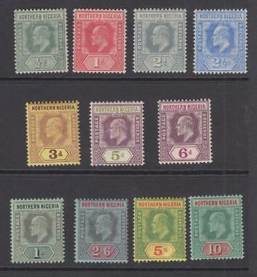 Northern Nigeria 28 - 38  Mint Hinged Og * No Faults Extra Fine!