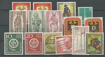 1955/ 1956 Germany Berlin Group Of Complete Sets Mnh**  64 € /  80 $
