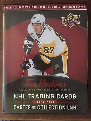 2017-18 UD TIM HORTONS LIMITED EDITION COLLECTORS BINDER Holds Complete Set NEW