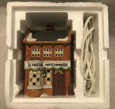 "Dept. 56 ~ Dickens Village ~ ""Geo Weeton Watchmaker"" (1988) ~ Mint In Box"