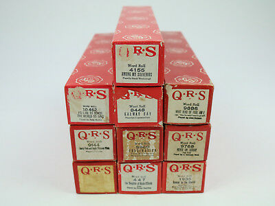 Lot of 10 QRS Piano Word Rolls - Popular Fun Songs, Vintage Execellent Condition