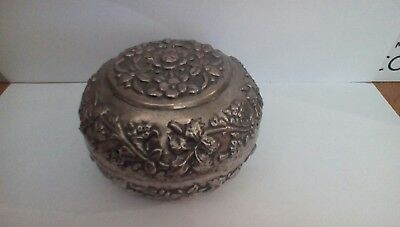 antique indian silver box