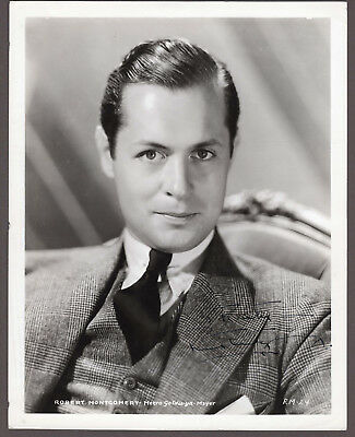 Robert Montgomery Signed Autographed B&W Photo, from the Melchior Collection