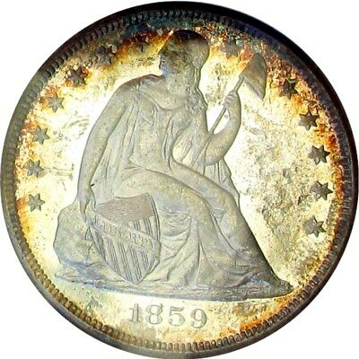 1859-O *prooflike* Seated Liberty Dollar +++ Certified Anacs Ms-60 Prooflike +++