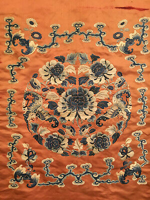 A Large Chinese Qing Dynasty  Textile Hanging Panel.