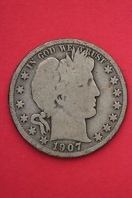 1907 O Barber Liberty Half Dollar Exact Coin Pictured Flat Rate Shipping OCE 488