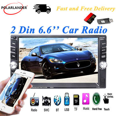 2 Din FM  Bluetooth  MP5 Player  Touch Screen  Car Radio  Stereo  USB/AUX/SD