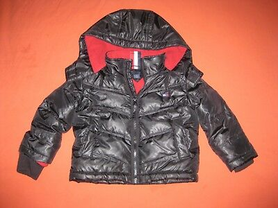Tommy Hilfiger Boys Toddler Down Jacket Puffer Coat Black Size 2T Fall Winter