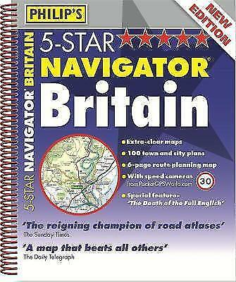 Philip's 5-Star Navigator Britain 2014: Spiral (Road Atlas), Philips, New, Spira