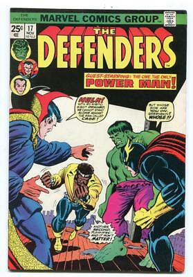 Defenders #17 - Key 1St Appearance Of The Wrecking Crew - Power Man - 1974