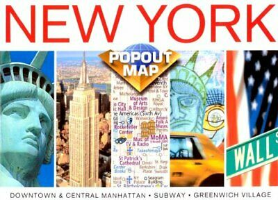 New York (USA PopOut Maps S.) by Compass Maps Sheet map Book The Cheap Fast Free