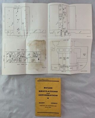 1958 Braniff Airways Rules Booklet Blueprints Dallas Texas Operations Base