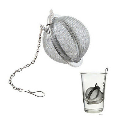 Tea Infuser Mesh Loose Leaf Herb Strainer Stainless Steel Secure Locking Ball