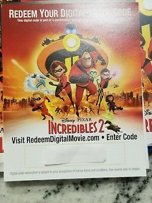 The Incredibles 2 HD Digital Code ONLY