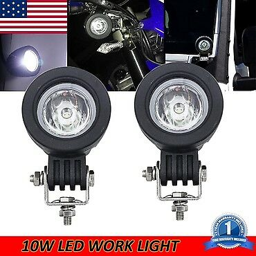 2pcs 10W Spot CREE LED Round Work Light Lamp For Off road Truck SUV ATV JEEP UTE