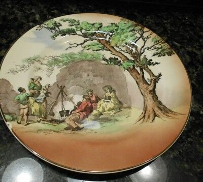 """1 Royal Doulton England Old Scenes """"The Gipsies"""" Decorative Plate 10&1/4"""""""