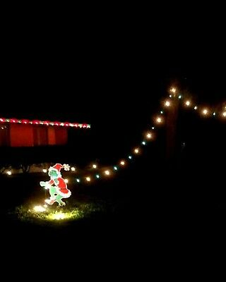 The GRINCH Steals CHRISTMAS Lights Yard Art