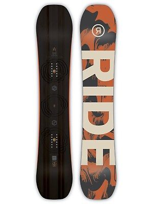 Ride Black-Orange 2019 Berzerker - 160cm Wide Snowboard