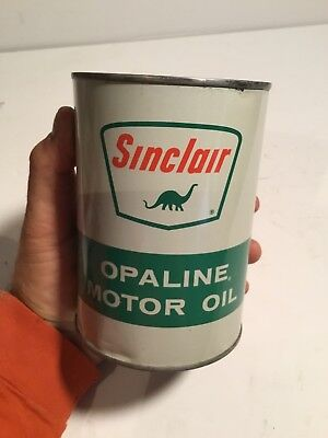 Vintage SINCLAIR Opaline Motor Oil Tin Quart Can