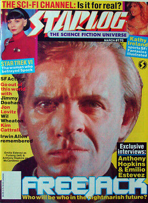 Starlog Sci Fi Magazine Issue176 April 1992 Star Trek, Anthony Hopkins