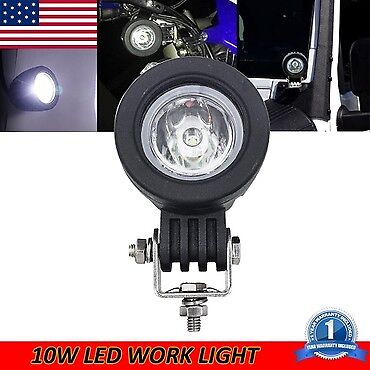 10W Spot CREE LED Round Work Light Lamp For Off road ford jeep truck suv dodge