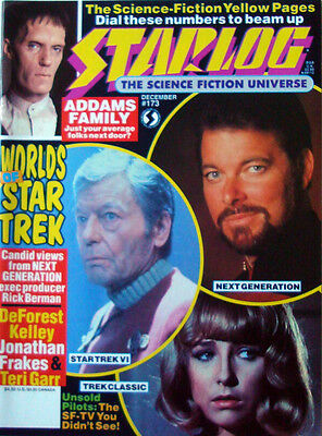 Starlog 173 December 1991 Star Trek,