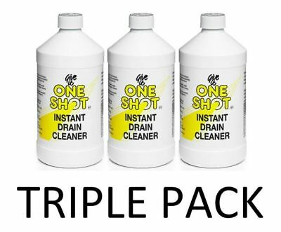 3 x One Shot Drain Cleaner 1 Litre