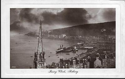 Rothesay, Bute, Argyll - 'passing clouds' Davidson real photo postcard c.1920s