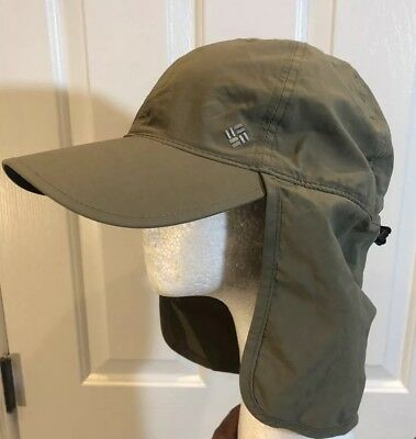 Columbia Pfg Omni-Shade Sage Green Fishing Hunting Golf Hat Cap Neck Flap  Sz L a92cab058be
